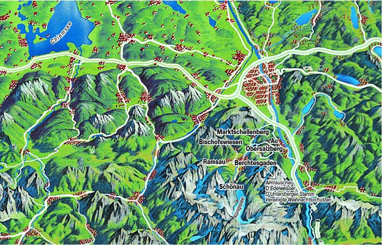 Berchtesgadener Land Karte.Karte Berchtesgaden